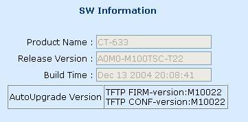 Firmware T22, comment upgrader ? Modem